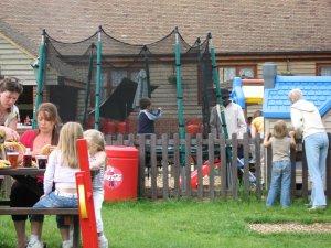 a big outdoor play area at a local pub