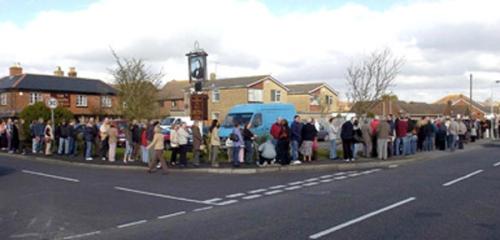 A queue for an NHS dentist!