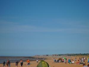 an English beach
